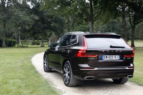 Volvo XC60 vue arrière marron
