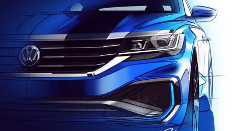 New front view of the Volkswagen Passat 2019 NMS