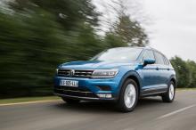 Volkswagen Tiguan bleu travelling avant
