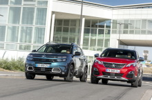 Citroën C5 Aircross and Peugeot 3008 face to face