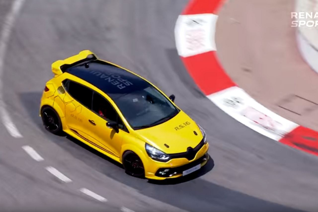 vid o la renault clio rs 16 en action dans les rues de monaco l 39 argus. Black Bedroom Furniture Sets. Home Design Ideas