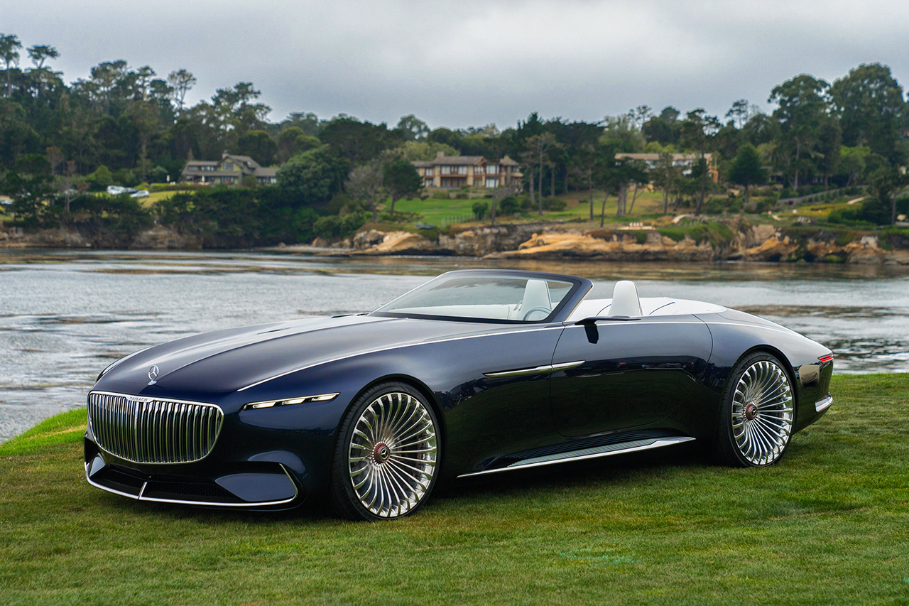 les stars de pebble beach 2017 vision mercedes maybach 6 cabriolet l 39 argus. Black Bedroom Furniture Sets. Home Design Ideas