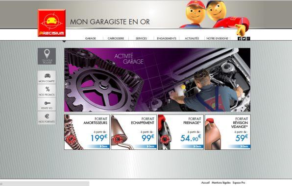 Le site web Pr�cisium Garage contribue aussi � la visibilit� du r�seau.