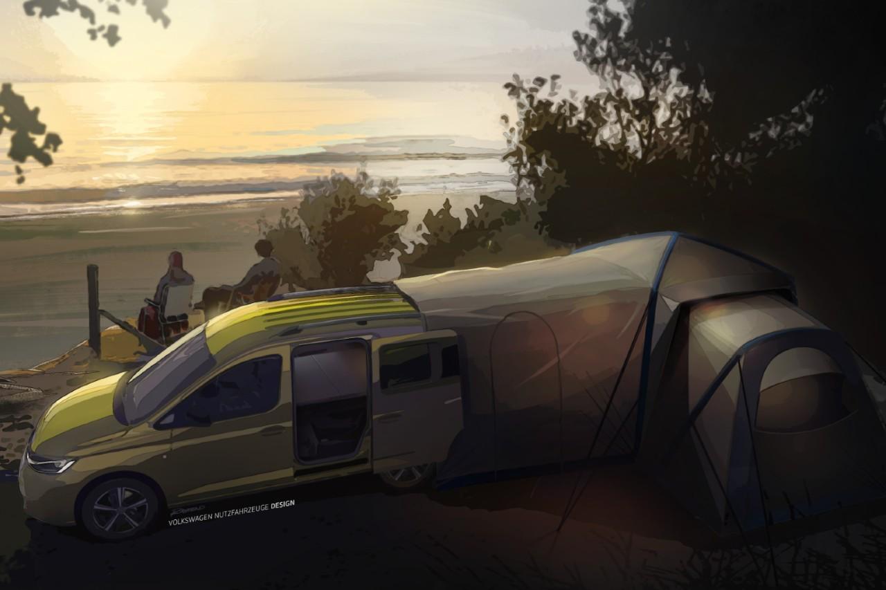 Volkswagen Caddy Mini-Camper (2020) : avec sa maison sur le dos...