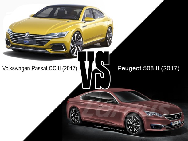 volkswagen cc ii vs peugeot 508 ii le match du quasi premium l 39 argus. Black Bedroom Furniture Sets. Home Design Ideas