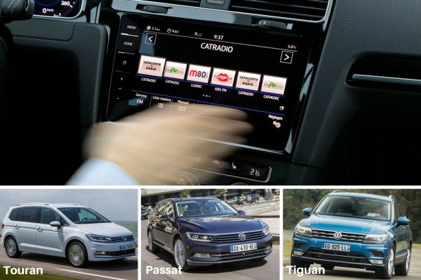 volkswagen nouveaux syst mes multim dia sur tiguan passat et touran l 39 argus. Black Bedroom Furniture Sets. Home Design Ideas