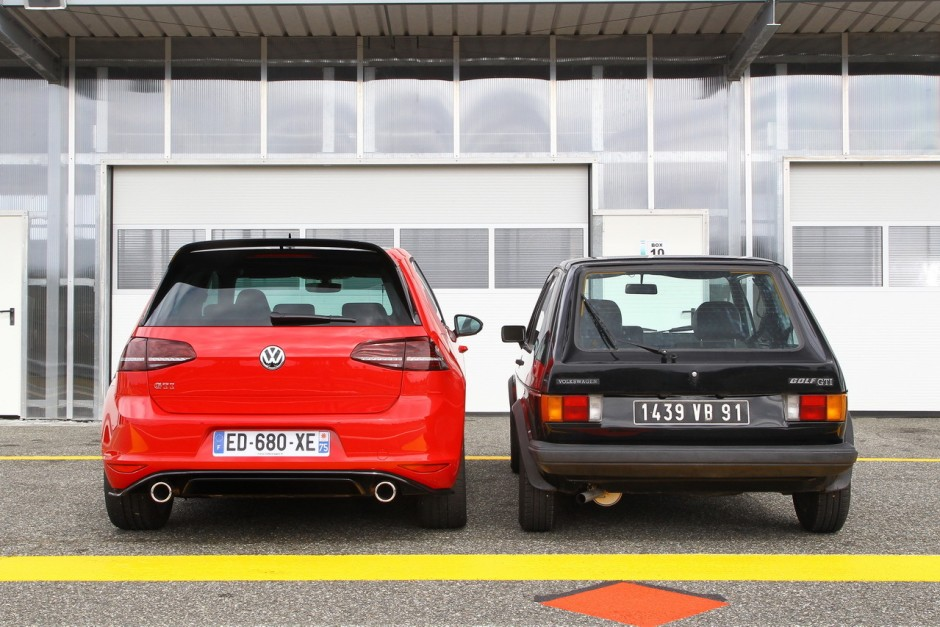 volkswagen golf 1 gti vs golf 7 gti clubsport c 39 tait mieux avant photo 2 l 39 argus. Black Bedroom Furniture Sets. Home Design Ideas