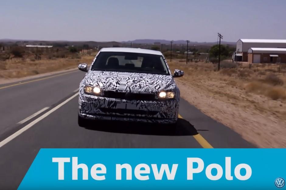 volkswagen polo 2017 la vid o officielle camoufl e de la polo 6 photo 1 l 39 argus. Black Bedroom Furniture Sets. Home Design Ideas