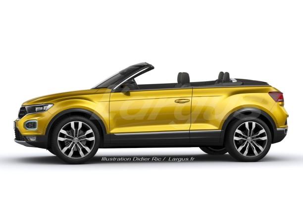 volkswagen t roc une version cabriolet du suv officialis e pour 2020 l 39 argus. Black Bedroom Furniture Sets. Home Design Ideas