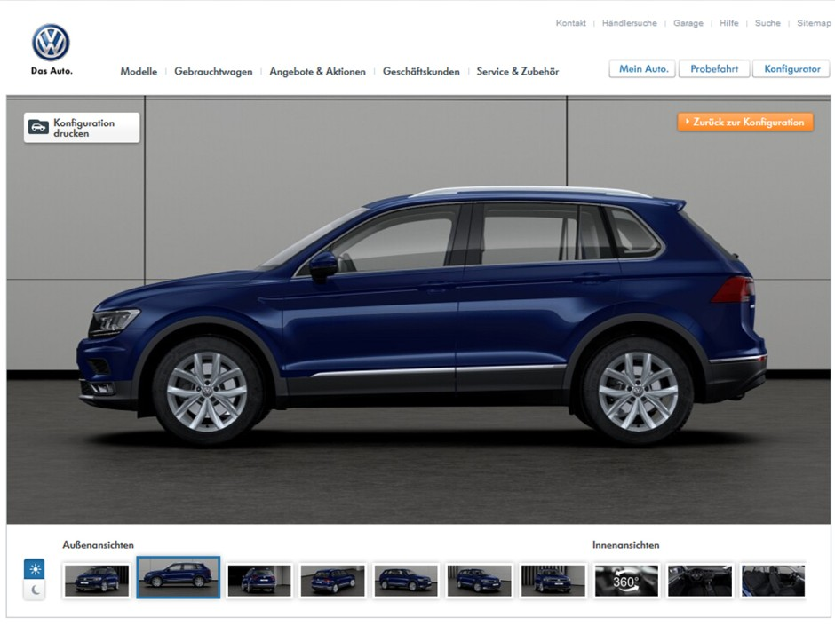 volkswagen tiguan 2016 fiches techniques configurateur et prix photo 8 l 39 argus. Black Bedroom Furniture Sets. Home Design Ideas