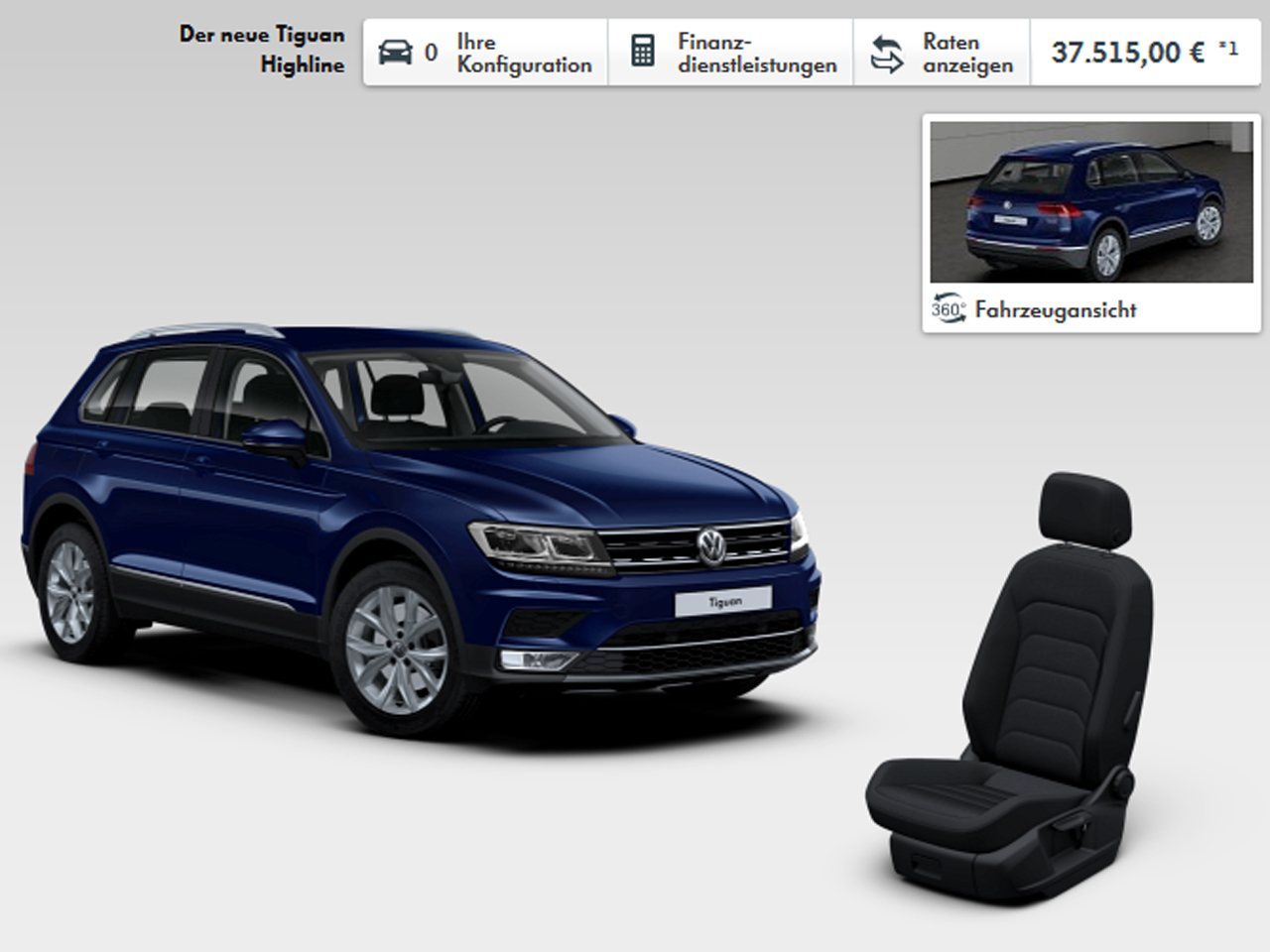 volkswagen tiguan 2016 fiches techniques configurateur et prix photo 3 l 39 argus. Black Bedroom Furniture Sets. Home Design Ideas