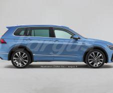Volkswagen Tiguan XL 7 places vue de profil