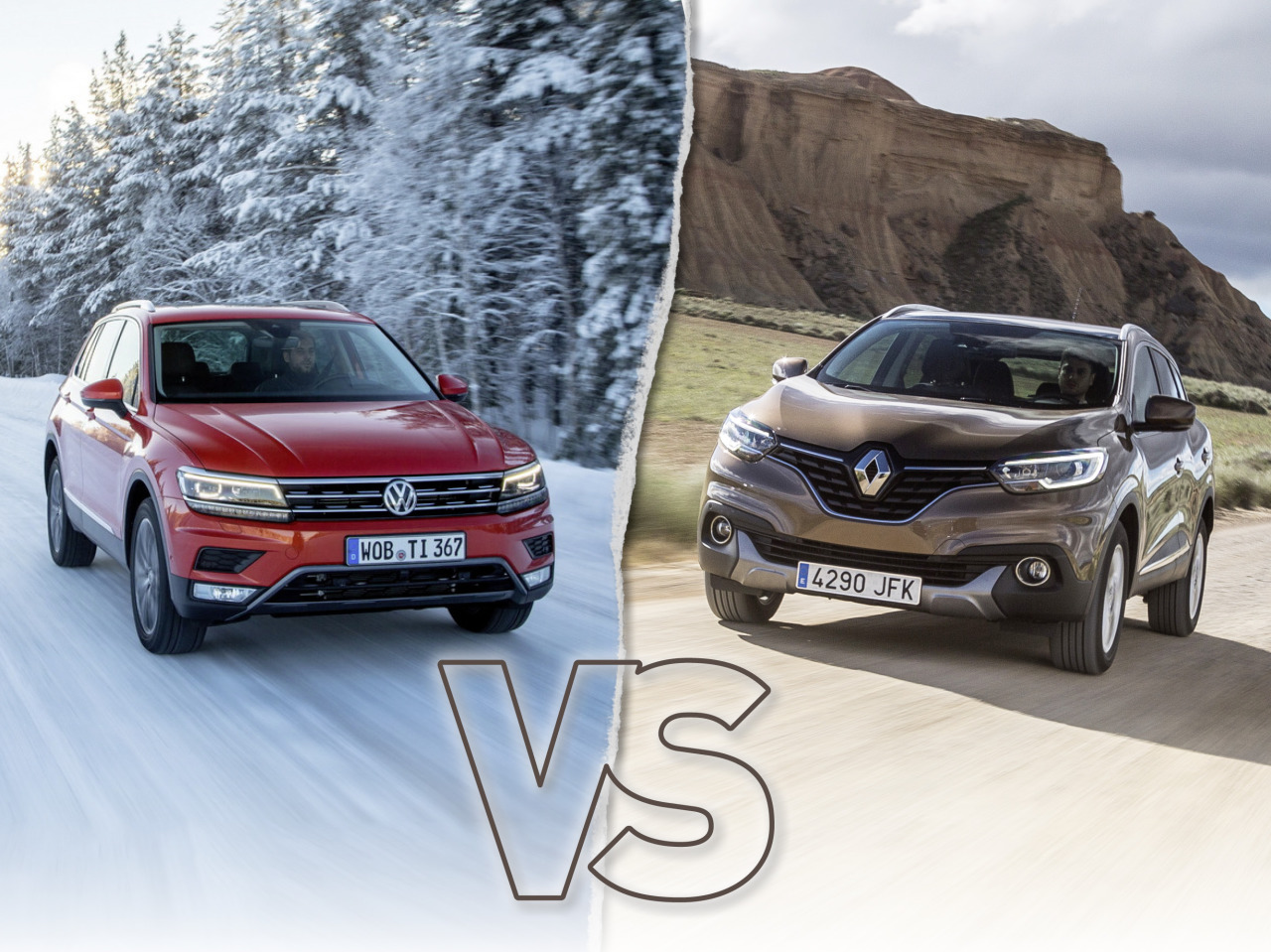 volkswagen tiguan 2016 vs renault kadjar le match des prix l 39 argus. Black Bedroom Furniture Sets. Home Design Ideas