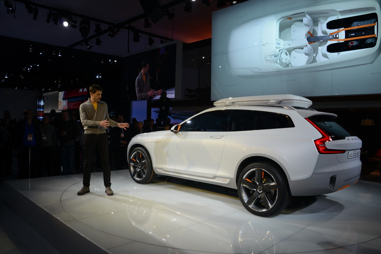 Photo de présentation du Volvo XC Coupé concept au salon de Detroit 2014