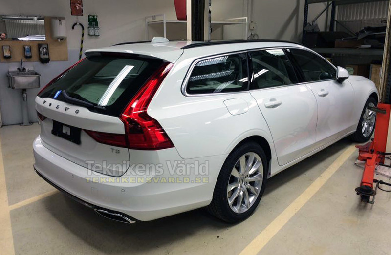 volvo v90 2016 premi re photo du nouveau break volvo l 39 argus. Black Bedroom Furniture Sets. Home Design Ideas