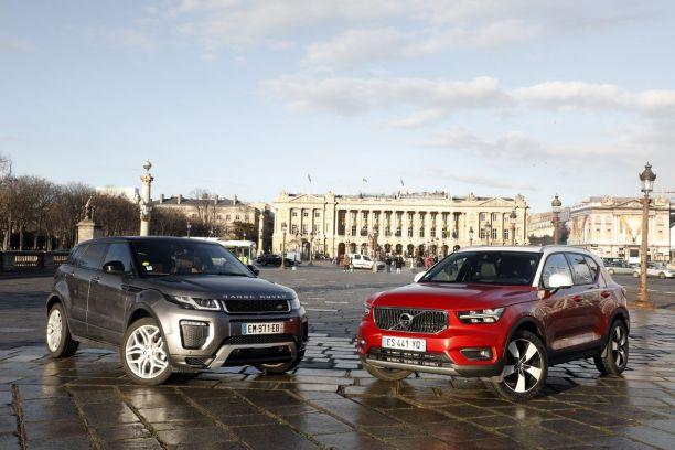 Essai Volvo Xc40 >> Essai Comparatif Le Volvo Xc40 Defie Le Land Rover Evoque