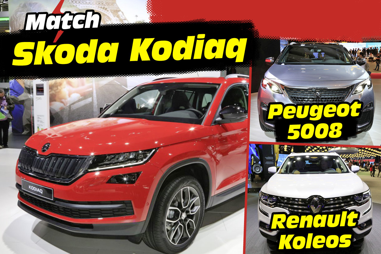 skoda kodiaq face aux nouveaux peugeot 5008 et renault koleos l 39 argus. Black Bedroom Furniture Sets. Home Design Ideas