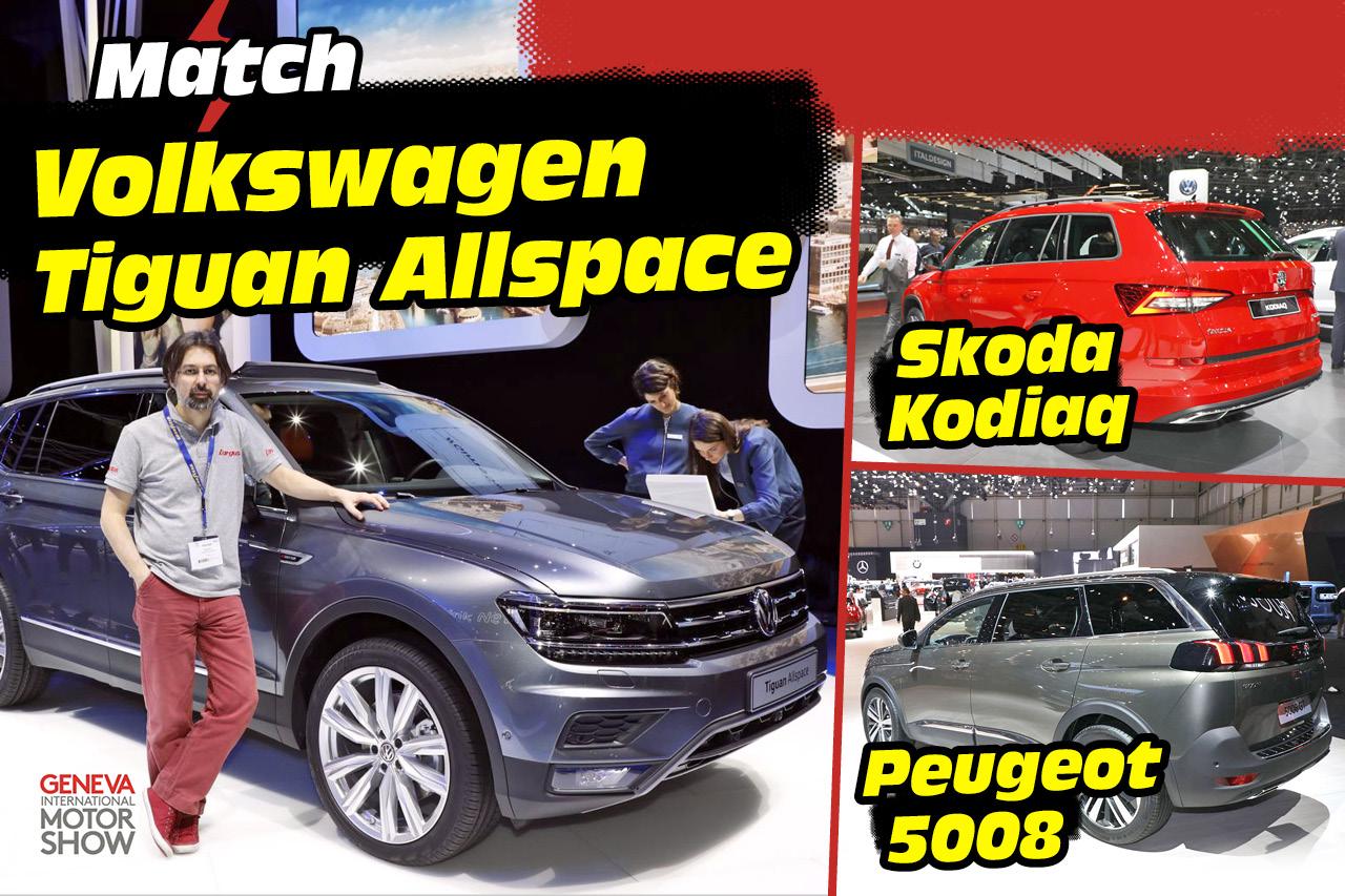 le volkswagen tiguan allspace face aux skoda kodiaq et peugeot 5008 peugeot auto evasion. Black Bedroom Furniture Sets. Home Design Ideas