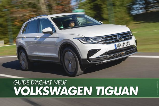 VW Tiguan 2017 bleu et orange