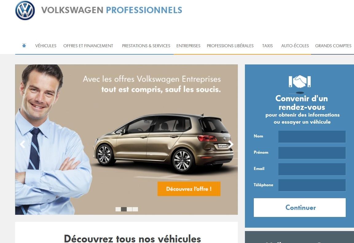 volkswagen ouvre un site internet d di aux professionnels l 39 argus. Black Bedroom Furniture Sets. Home Design Ideas