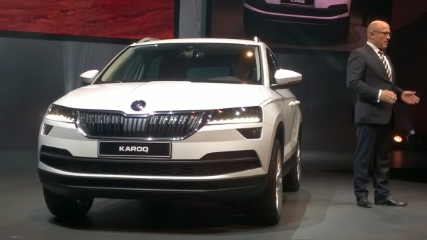skoda karoq 2017 photos en direct de la pr sentation l 39 argus. Black Bedroom Furniture Sets. Home Design Ideas