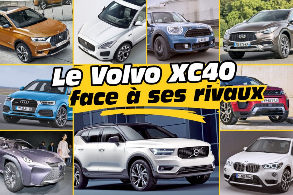 le nouveau suv volvo xc40 face ses concurrents photo 1 l 39 argus. Black Bedroom Furniture Sets. Home Design Ideas