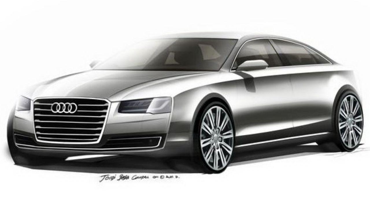 Audi A8 2013 : premiers dessins de l'A8 restylée
