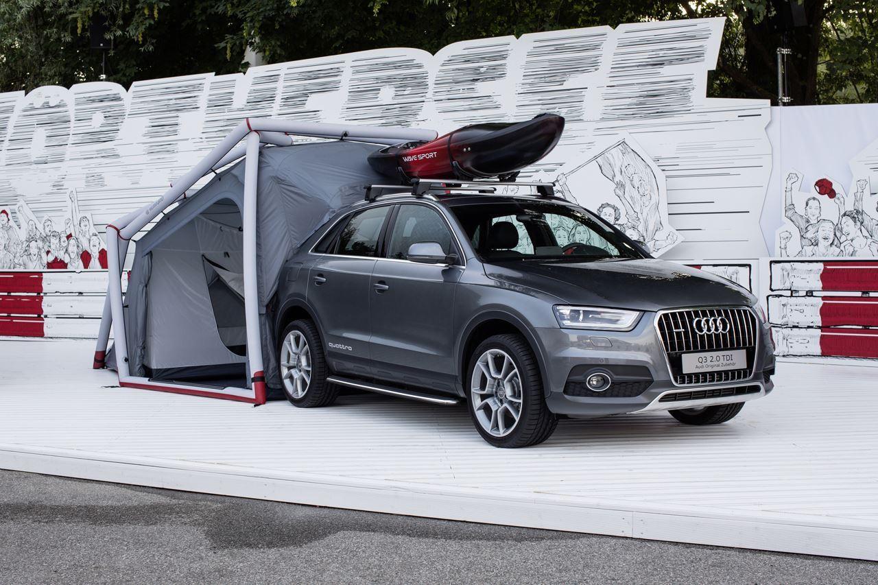 L'Audi Q3 « tente de camping » joue les mini caravanes pliantes