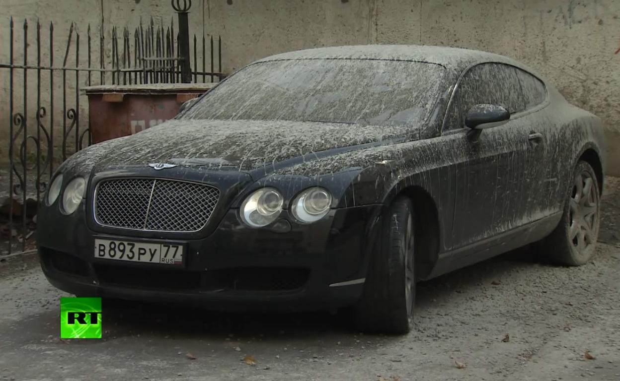 Il retrouve sa Bentley recouverte de ciment (vidéo)
