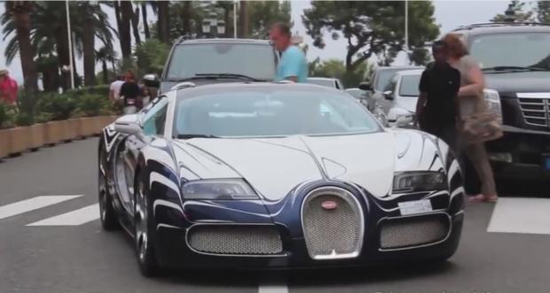 news auto la bugatti veyron l 39 or blanc parade monaco 321auto. Black Bedroom Furniture Sets. Home Design Ideas