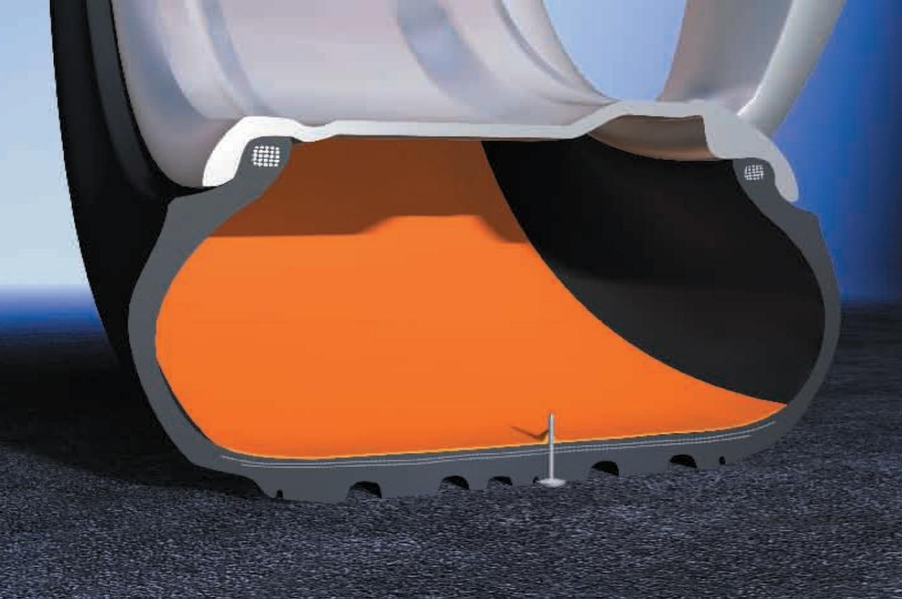 Le pneu qui se répare tout seul