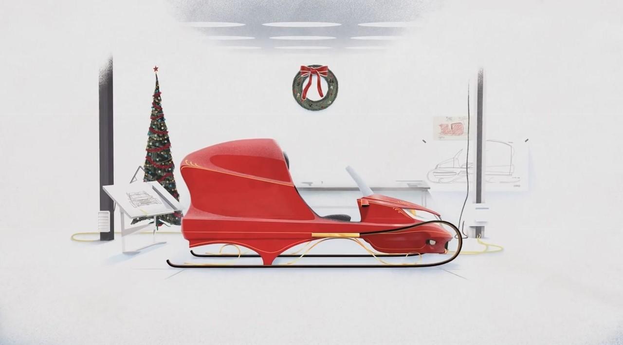 Vidéo : Honda offre un traineau super high-tech au Père Noël