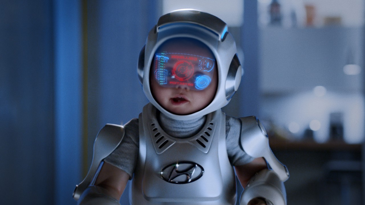 ExoBaby : l'étrange bébé Robocop de Hyundai