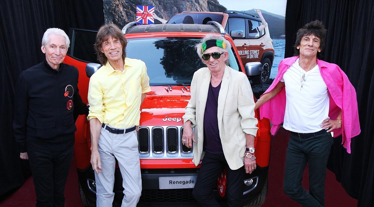 46 000 dollars pour une Jeep Renegade signée par les Rolling Stones