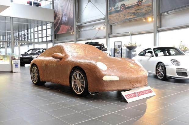 Insolite Une Porsche En Chocolat