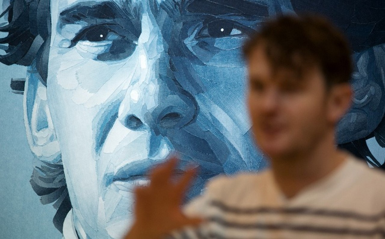 Insolite : un portrait d'Ayrton Senna réalisé en jean
