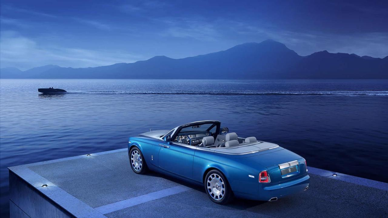 Rolls Royce Phantom Drophead Coupé Waterspeed, la belle bleue