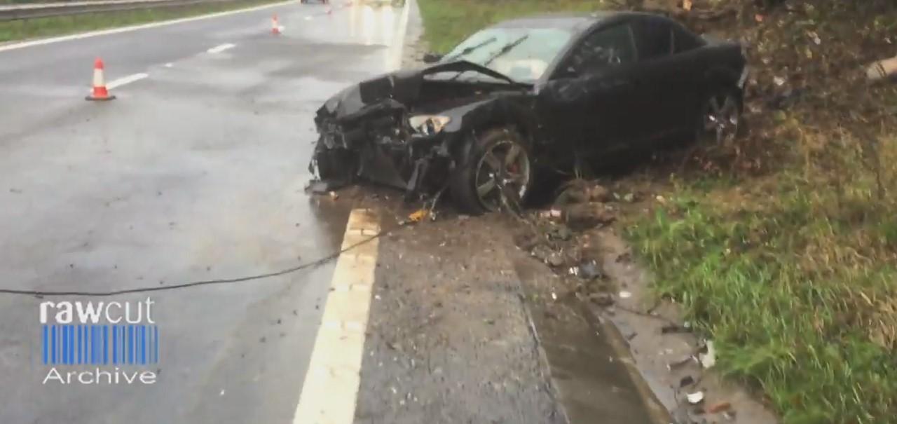 Vidéo : un crash en Mazda RX-8 comme si vous y étiez