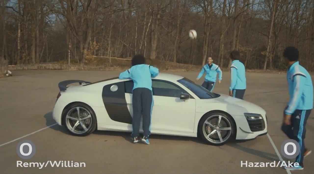 Vidéo : les stars de Chelsea se défient à l'Audi Challenge