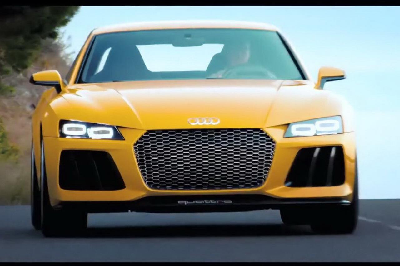 Une vidéo de l'Audi Sport quattro concept en guise de cadeau