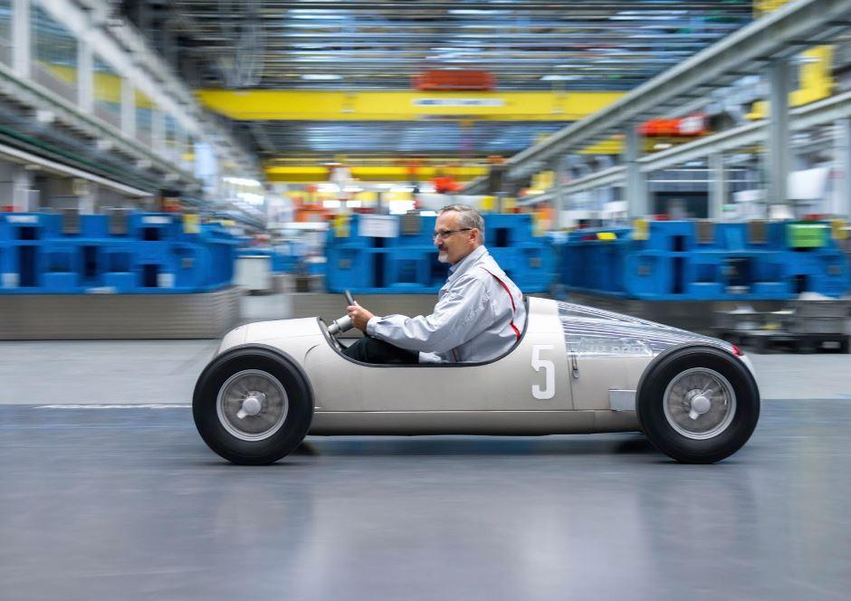 Audi : une réplique de l'Auto Union Type C imprimée en 3D