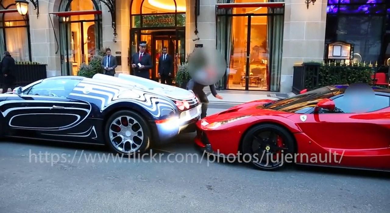 Bugatti Veyron L'or Blanc vs Ferrari LaFerrari : l'accrochage