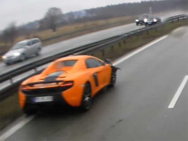Vidéo : il plante sa McLaren sans raison apparente