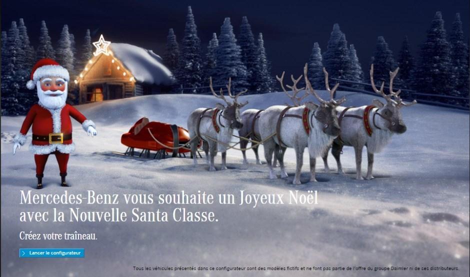Mercedes ouvre le configurateur du traîneau du Père Noël