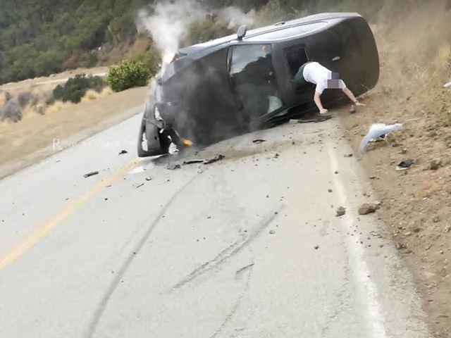BMW Série 3 : la séance photo se termine en crash