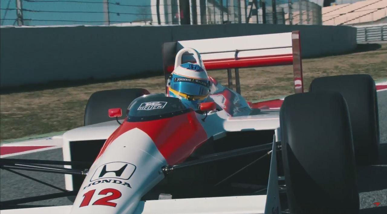 Video : Fernando Alonso au volant de la McLaren d'Ayrton Senna