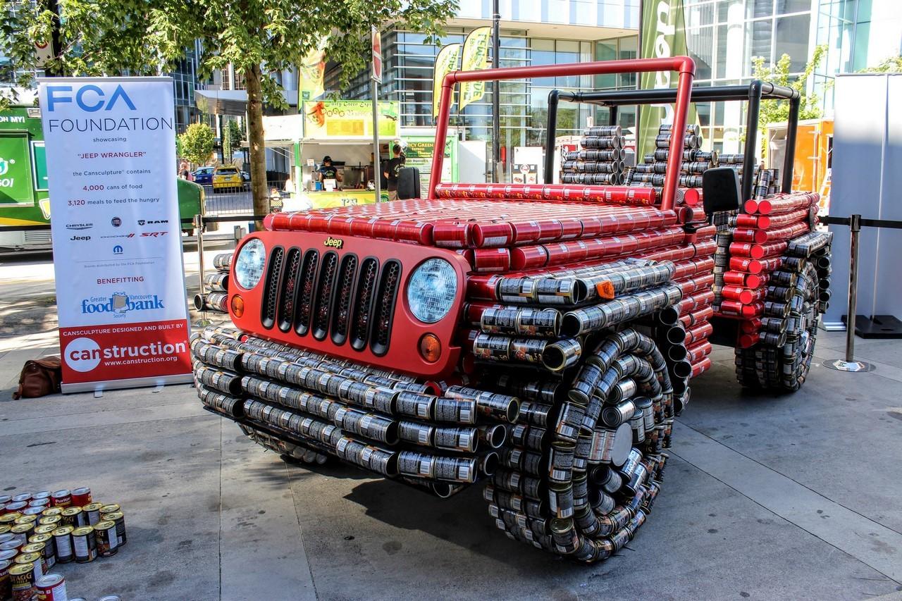 Insolite : une Jeep Wrangler faite de boîtes de conserve