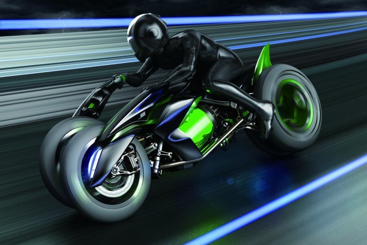Kawasaki Concept J, une moto électrique à quatre roues