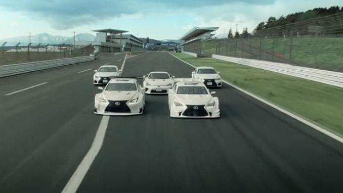 Une chorégraphie de drift pour la gamme gamme F de Lexus