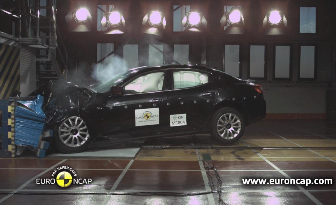 Maserati Ghibli : 5 étoiles au crash-test de l'Euro NCAP